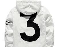 куртки большого размера оптовых-2018New мужчины молния повседневная yeezus куртка jaqueta мода любовник № 3 куртка хип-хоп мужчины ветровка куртка пальто негабаритных размер США