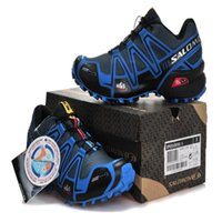 Wholesale raining blue - Salomon Speed cross 3 CS III Deep Grey Blue Crosspeed 3 Men country raining Outdoor Running shoes sneakers size 40-46