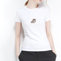 Wholesale pretty lady clothing resale online - PRETTY KITTY Print T Shirt For Women Clothing Summer Funny Female T shirts Harajuku Tee Tumblr Hipster Ladies T shirt