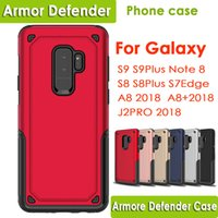 Wholesale heavy duty defender - Hybrid Armor phone case Cases Heavy Duty Defender Back Cover Shockproof for Samsung Galaxy S9 S9Plus S8 S8Plus Note8 S7edge A8 2018 J2 PRO