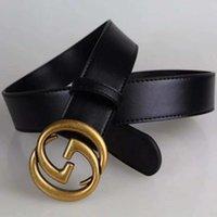 8c10dc909fe9ca Brand Designer Gürtel für Männer und Frauen Mode Luxusmarke Gürtel glatt  Schnalle Gürtel Taille hohe qualtiy Echtleder Gürtel schwarz Farbe