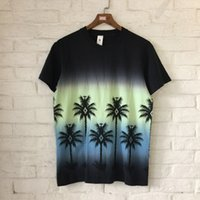 Wholesale coconut t - 2018 new Hip hop Summer Coconut Tree Printed Women Men kanye Style print short sleeve t shirt Fashion Casual Round tees M XL
