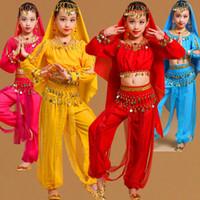 balo salonu dans giysisi latin toptan satış-Balo Salonu Çocuk Çocuk Bale Latin Giyim Sahne Dans Giyim Dans Kostüm Çocuk Latin Bale Dans Elbise Kızlar Için