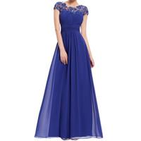 gelinlik ince çizgili dantel toptan satış-Yaz Elbise Kadınlar 2018 EleChiffon Siyah Dantel Uzun Parti Elbise Düğün Nedime Maxi Elbiseler Kadın Ince Vestidos