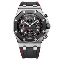 Wholesale men's luxury watches online - Popular Luxury Watch Mens mm AAA Black Dial Rubber Band Gold Stainless Steel Quartz ST Men s Waterproof Luminous Men Watch