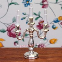 Wholesale Dollhouse Living Room - Dollhouse Miniature 1:12 Toy Living Room 3 Metal Candelabra H5.8cm SPO19