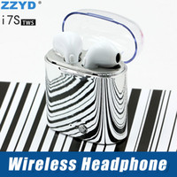 Wholesale mini stereos online - ZZYD i7S TWS Wireless Bluetooth Earphone Portable Mini Earphone Stereo Sport Headsets For iPX Samsung S8 Note Any Phone