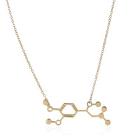 Wholesale chemistry necklace for sale - Group buy Necklaces pc Adrenaline Molecule Science Jewelry Chemistry Structure Mix Color Floating Charm Locket Necklace