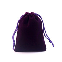75613ccc0 Bolsos de terciopelo Bolsas de joyería 50 unids / lote 8x10 cm Púrpura  Hermoso Regalo Bolsas Paquete Tela Regalo Bolsa Regalo de terciopelo  logotipo ...