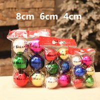 Wholesale 4cm cm cm Electroplate Ball Christmas Tree Ball Baubles Xmas Wedding Hanging Ornament Christmas Decoration Ball