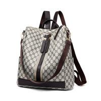 Wholesale school bags resale online - 2018 Fashion Design Women Backpack High Quality Youth Leather Backpacks for Teenage Girls Female School Shoulder Bag Bagpack mo