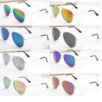 Wholesale Sunglasses Cheap Pilot - New cheap sunglasses colors Women Aviator Sunglasses Gold frame Glasses Men UV400 Shades Male Pilot Sunglass Female Eyewear