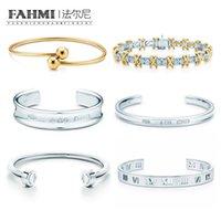 sterling silber armbänder glocken großhandel-FAHMI 100% 925 Sterling Silber 1: 1 Original Authentische Klassische Kranz Bell Römischen Ziffern Exquisite Hochzeit Frauen Armband Schmuck
