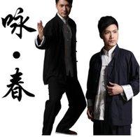 flügel für kostüme großhandel-vetement ropa tenue de bruce uniform kostüm kleidung hosen jacke chinesische wing chun kung fu traditionellen flügel chun kung fu