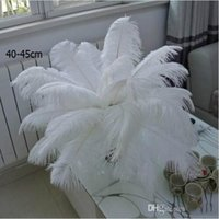 Wholesale ostrich plume feathers sale for sale - Group buy 2018 Hot sales Per inch White Ostrich Feather Plume Craft Supplies Wedding Party Table Centerpieces Decoration