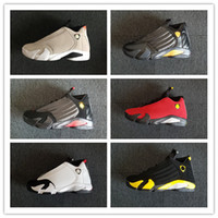 Wholesale size 14 basketball shoes for sale - Group buy New XIV Thunder BRED DESERT SAND black red men basketball shoes women sports outdoor S trainers sneakers with box size