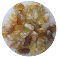 Wholesale Gemstone Coin Beads - C18 200g 15-30mm Natural Brazil Citrine Yellow Crystals Stone Aquarium Beads Gemstone Aquarium Quartz