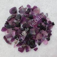Wholesale Black Stone Cube - 200g 10mm Natural Purple Fluorite Amethyst Purple Stone Crystals Chips Quartz Aquarium C65