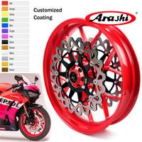 vorderes scheibenrad großhandel-Arashi für Honda CBR1000RR 2006 - 2017 Vorderradfelge Bremsscheibe Scheibenrotor CBR 1000 RR Rot 2011 2012 2013 2014 2015 2016