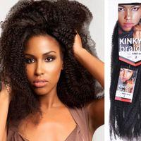 Wholesale kinky bulk hair wholesale for sale - Afro Kinky Curly Caterpillar Braids Hair Extensions Kanekalon Synthetic Braiding Hair Crochet Braids Hair Extensions Bulk quot