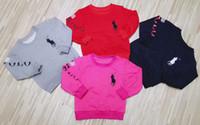 modèle garçon enfants nouveau achat en gros de-Automne nouveaux beaux enfants vêtements chemise chemise coton de haute qualité vêtements de sport modèles d'explosion chemise chandail 862 #