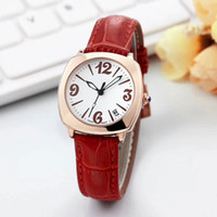 Wholesale famous triangles - Famous brand ladies luxury watches Leather strap Dress fashion quartz watch for women female girls best Valentine Gift wristwatches clock