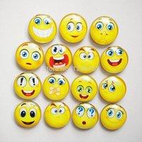 çeşitli hediye toptan satış-Ücretsiz kargo (15 adet / grup) Çeşitli EmotionCrystal Cam buzdolabı mıknatısı Sevimli Yuvarlak Karikatür mesaj sticker Ev Dekora ...