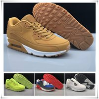 Wholesale classic shoes online - wholesale cheap Men Women 90 Running Shoes Online Discount classic 90 Trainers Breathable Lace Up Sneakers Sport Shoes