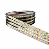 luces de tira de 12v dc al por mayor-DC 12V 5M 300LED IP65 IP20 no impermeable 5050 SMD RGB LED Tira de luz 3 líneas en 1 lámpara de alta calidad Cinta para iluminación del hogar