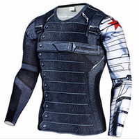 Wholesale t shirt fitness clothing compression for sale - Group buy Marvel Superhero Winter Soldier Bucky D Men T Shirt Fitness Crossfit T Shirt Long Sleeve Compression T Shirt Men S Clothing