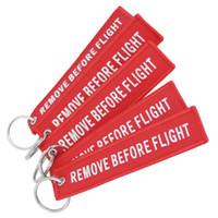 Wholesale pilot keys - 2018 Funny Creative Fabric Key Ring Remove Before Flight Keychain Pilot Bag Crew Tag Luggage Keyring