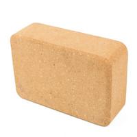 resbalones de ladrillo al por mayor-High Density Cork Yoga Brick Protección del medio ambiente Gimnasio insípido Gimnasio Yoga antideslizante Ladrillos