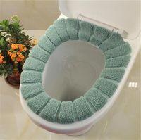 Wholesale velvet seat covers resale online - Comfortable Velvet Coral Bathroom Toilet Seat Cover Washable Closestool Standard Pumpkin Pattern Soft Cushion Bath Garden