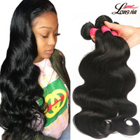 Wholesale hair for weaving resale online - Brazilian virgin Hair Body Wave a Unprocessed virgin Human hair Weave Brazilian Body Wave bundles For Black Woman