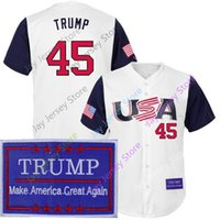 13c7d9d9 45 President Donald Trump USA Jersey Baseball Men Women Youth Home Away White  Grey All Stitched size S M L XL 2XL 3XL 4XL 5XL