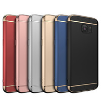 Wholesale pro iphone case - 3 in 1 Case Matte Plating Slim Full Hard Plastic Armor Cover Case For iPhone X 8 7 6 Plus Samsung Galaxy S9 S8 S7 Edge Note 9 5 A6 J2 C5 Pro