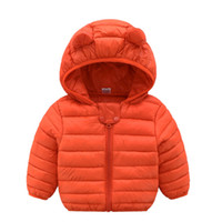 Wholesale cotton blends kids outwear coats for sale - Baby boys girls warm coat winter hooded cute clothes Children Clothing kids point outwear baby girl s coats