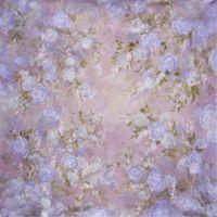 spray vintage venda por atacado-Vinil Fotografia Fundo Vintage Flores Roxas Computer Impresso Bebê Recém-nascido Adereços Foto Crianças Crianças Retrato de Estúdio Floral Cenário