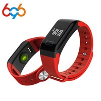 импульсный монитор смотреть умный оптовых-696 Smart wristband Pedometer Bracelet F1 wrist band Heart Rate Monitor Sports Smart watches Blood Pressure Pulse watch
