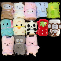 Wholesale Fleece Animal Throw - Coral Velvet Blanket Foldable Cartoon Animal Shape Blanketry For Children Adults Office Afternoon Nap Blankets Super Comfortable 12xy Y Z