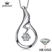 подвеска из натуральных бриллиантов оптовых-natural Diamond necklace Pendants Pure 18K Gold Jewelry Charm women Girl gift Elegant Fashion Angel Wings hot sale new good fine