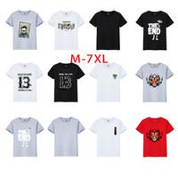 Wholesale Browning T Shirt Large - Man casual large size M-7XL short sleeve T shirt men plus big size fashion 25 styles prints base shirt