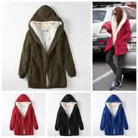 Wholesale girls warm parka resale online - Women Fur Hooded Parkas Coats Colors Adjustable Waist Long Outwear Casual Warm Girls Down Coats Jackets OOA5877