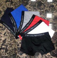Wholesale mens solid color boxers - 100% cotton Top hot Vogue Men Gay Sexy Underwear Mens Underwear Casual Shorts Fashion Solid Color Cotton Man Boxers Shorts Sexy Underwear