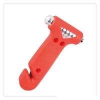 ferramenta de salvamento ao ar livre venda por atacado-Ao ar livre de Emergência Hammer LifeSaving Tools 2 Em 1 Car Auto Disjuntor Da Janela Ferramenta de Fuga Cinto de segurança Ferramenta de Corte Seguro Escape Kit