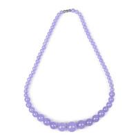lila jaspis schmuck großhandel-Das geheimnisvolle Lila mit transparenter Violet Jasper Schmuckkette, großzügig und romantisch