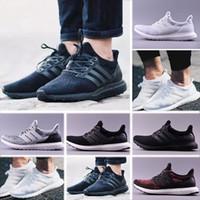 zapatillas ligeras para correr al por mayor-Adidas Ultra 3.0 Nuevo Hot Men para mujer Core Black 3.0 UB Ultra Running Shoes Sneaker para mujer ligero Primeknit Tripe blanco Oreo CNY Run Shoes