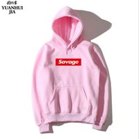 koyu gri hoodie toptan satış-Ücretsiz kargo Savage Hoodie Sokak Giyim Hip-Hop Mavi Açık Gri Koyu Gri Siyah Kapşonlu Gömlek erkek Hoodies ve Tişörtü