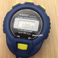 temporizador de funcionamiento al por mayor-Temporizador de cuarzo profesional KADIO KD6128 Cronógrafo de alarma impermeable Cronómetro electrónico con temporizador KD-6128 temporizador deportivo