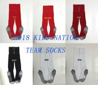 Wholesale pink knee high socks - 18 19 Kid's Soccer Socks Spain Knee High Stocking Belgium Thicken Towel Bottom Long Hoses Mexico sports socks Argentina football stocking